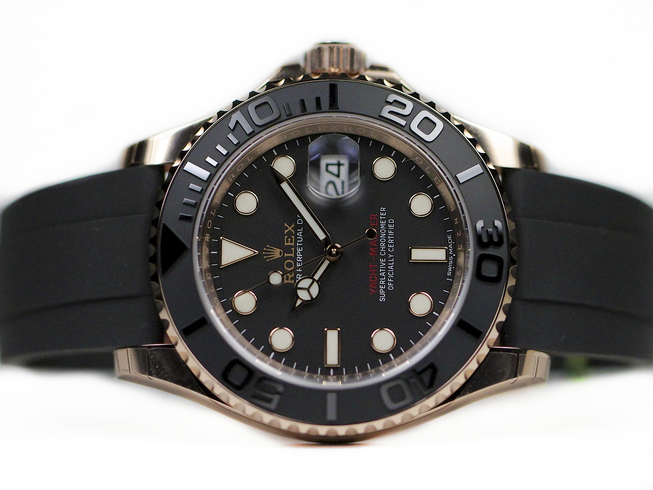 Replica Rolex Yacht-Master 116655 With Rose Gold