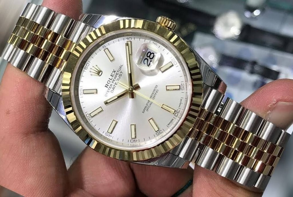 Oystersteel and yellow gold exact replica watches Rolex Datejust 126333