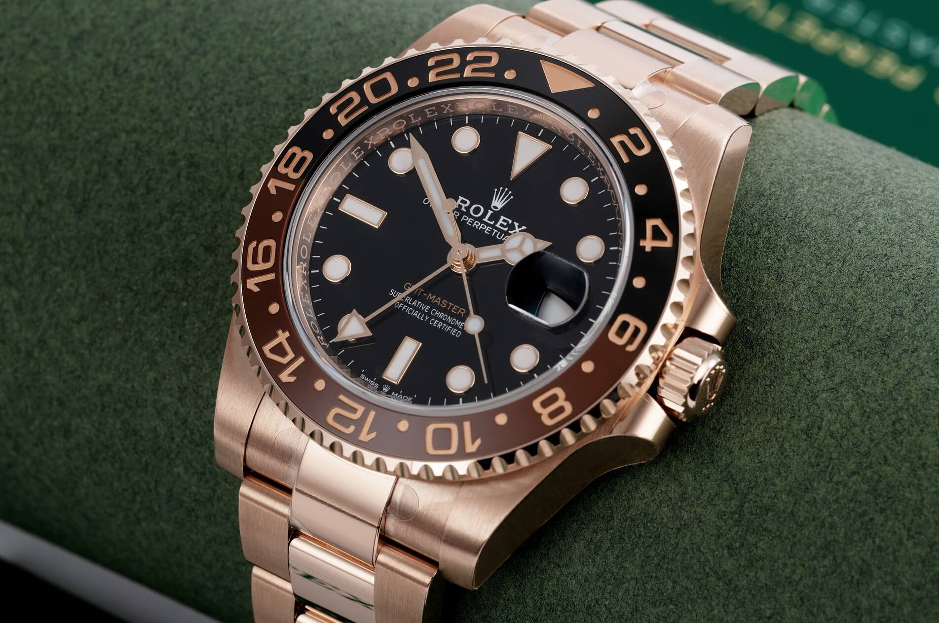 "Rolex Fake GMT-Master II Everose Gold 126715CHNR ""Root Beer"""
