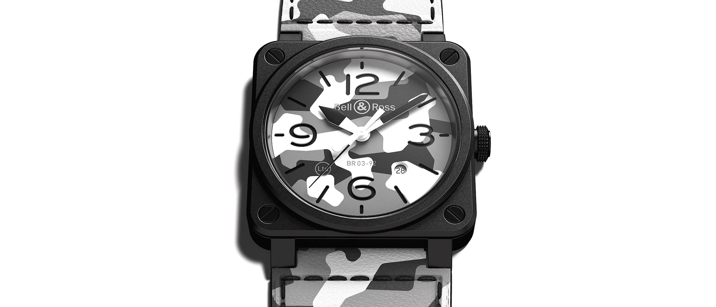 Best Quality Bell & Ross Replica BR03-92 White Camo Watch