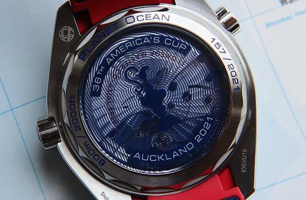 Case back Of replica Omega Seamaster Planet Ocean 600M America's Cup Limited Edition