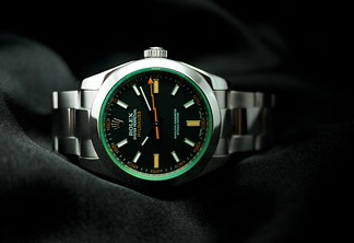 knock off Rolex Milgauss with Flat stainless steel Bezel